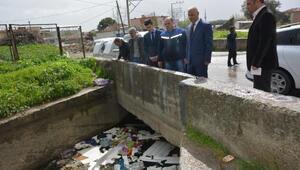 Manisada çöplüğe dönen kanal temizlenecek