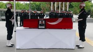 Şehit polis Fatih Nair için İstanbul Emniyet Müdürlüğünde tören...