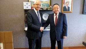 Moğolistan Büyükelçisinden Erdoğana ziyaret