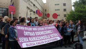 Bursa'da kadınlardan çocuk istismarı protestosu
