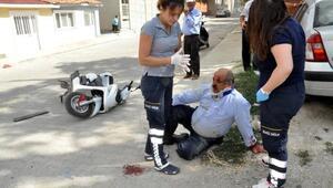 Malkara'da motosiklet ticari araca çarptı, 1 yaralı