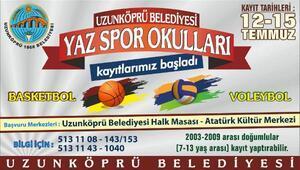 Uzunköprü Belediyesi Yaz Spor Okulları kayıtları başladı