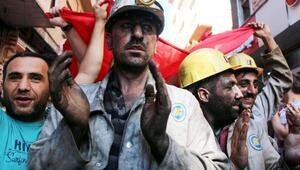 Zonguldakta madenciden özelleştirme protestosu