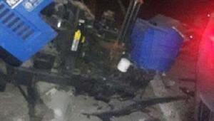 Kınıkta traktörle otomobil çarpıştı: 1 ölü, 6 yaralı