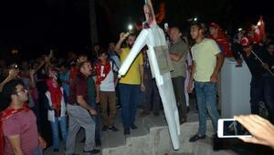 Tokatta darbeye karşı protesto yürüyüşü