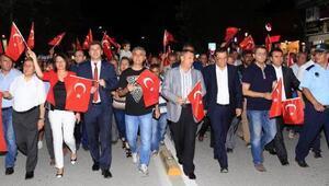 Burdurda Cumhuriyet ve Demokrasi Yürüyüşü yapıldı