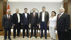 CHP İl Başkanı Keskin, Büyükşehir Belediye Başkanı Çeliki ziyaret etti