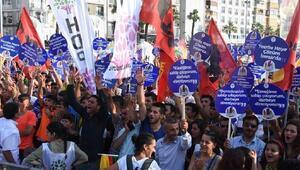 HDP'den İzmir'de darbeye karşı miting