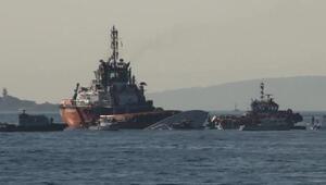 Sahil Güvenlik botu Sarayburnu açıklarında alabora oldu (1)