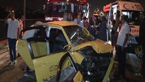 15 Temmuz Şehitler Köprüsü girişinde trafik kazası