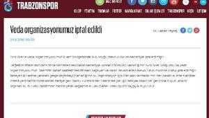 Trabzonspor, Hüseyin Avni Aker'e veda organizasyonunu iptal etti