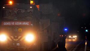 Cerablus sınırına tank sevkiyatı sürüyor