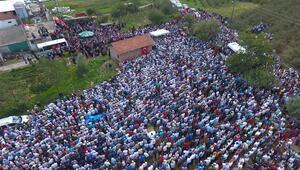 Şehidi binlerce vatandaş uğurladı
