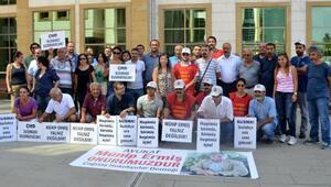Gözaltındaki avukatlara destek için oturma eylemi