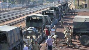 İstanbul'dan İslahiye'ye askeri sevkiyat bayramda da sürdü