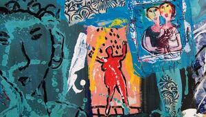 Fransız sanatçı Dominique Chanın resim sergisi ÇSMde