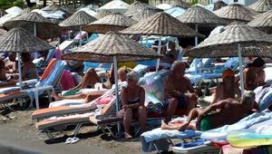 Marmariste sahiller yabancı turistlere kaldı