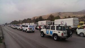 Suriyede yardım konvoyları vuruldu