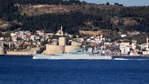 Rus savaş gemisi, Egeye yol aldı