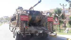 Şanlıurfa'dan, Suriye sınırındaki Karkamışa tank sevkiyatı