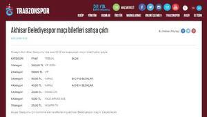 Trabzon'da Akhisar Belediyespor maçının biletleri satışa çıktı