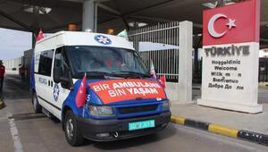 Suriyedeki muhaliflere verilecek 24 ambulans Kapıkuleden giriş yaptı
