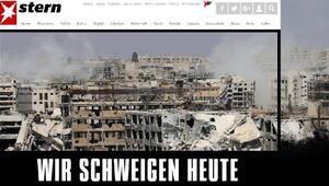 Alman Stern dergisi, Halep'te yaşanan drama dikkat çekmek için bugün susacak