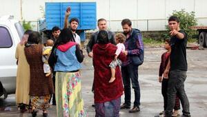 Ereğlide dilenen Suriyeliler gönderildi