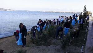 Kepezde kıyı temizliği yapıldı