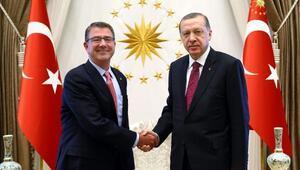 Cumhurbaşkanı Erdoğan, ABD Savunma Bakanı Carteri kabul etti