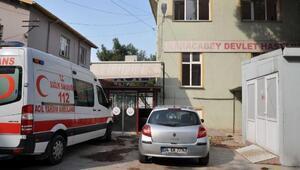 Karacabeyde eski devlet hastanesi binasında yangın
