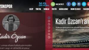 Trabzonspor, Kadir Özcan'ı andı