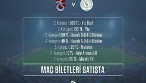 Trabzonspor, Çaykur Rizespor maçı bilet fiyatlarını açıkladı