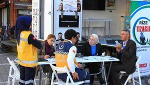 Rizede Organ Bağışı Haftası etkinlikleri
