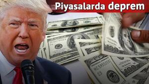 Piyasaların Trump tepkisi: Dolar, euro rekor kırdı, borsalar sert geriledi