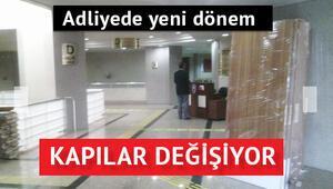 İzmir Adliyesinin kapıları engelliler için değişiyor
