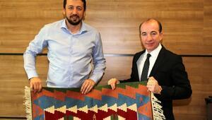 Adana Askispordan Hidayet Türkoğluna hayırlı olsun ziyareti