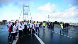 Başkan İmamoğlu, maratonda omurilik felçlileri için koştu