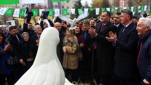 Ecevit adına barış güvercinli park