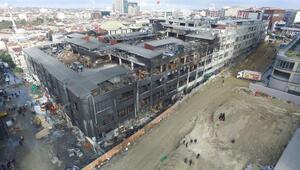 Yanan fabrika havadan bugün böyle fotoğraflandı
