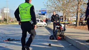 Erbaada motosiklet TIRa çarptı: 1 ölü, 1 yaralı