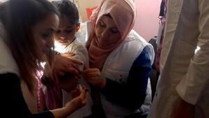 Reyhanlı'da öğrencilere aşı