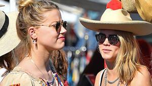 Cara Delevingne ve Amber Heard aşk yaşıyor