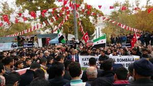 Kahramanmaraşta, Halep protestosu