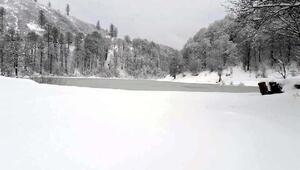 Erbaadaki Düden Gölü dondu