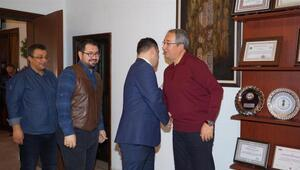 Tabipleler odası yönetim kurulu üyelerinden Ünver'e ziyaret