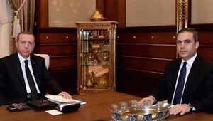 Cumhurbaşkanı Erdoğan, Fidanla görüştü