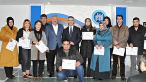 Akyurtta KOSGEB kursunu bitirenlere sertifika