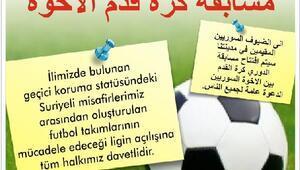 Suriyelerin futbol turnuvası başlıyor