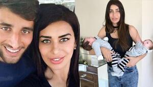 Ebru Şancı ikizleriyle poz verdi